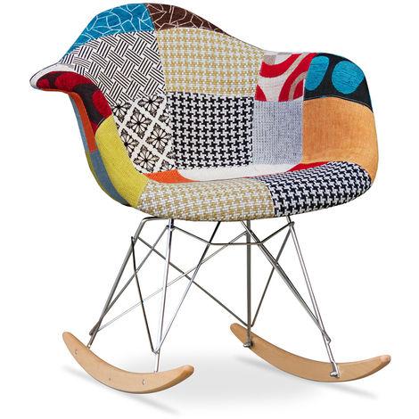 Chaise à bascule Rarwick - Patchwork Patty Multicolore