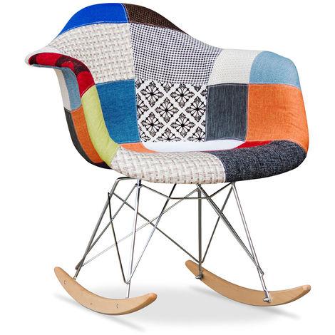 Chaise à bascule Rarwick - Patchwork Pixi Multicolore