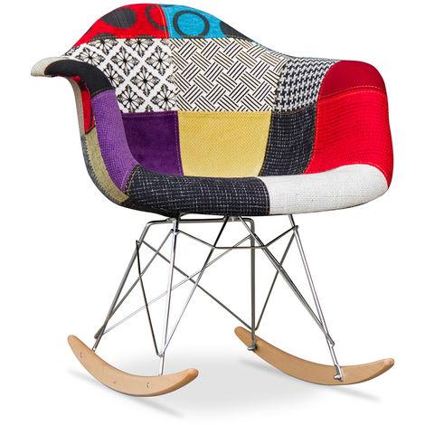 Chaise à bascule Rarwick - Patchwork Ray Multicolore