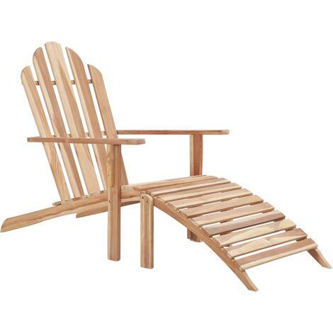 Chaise Adirondack avec repose-pied Teck