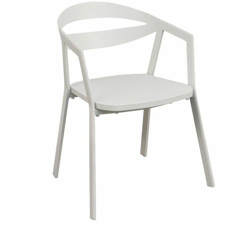 Chaise alu exterieur Lavila ZENDART OUTDOOR - Blanc - Extérieur - Blanc