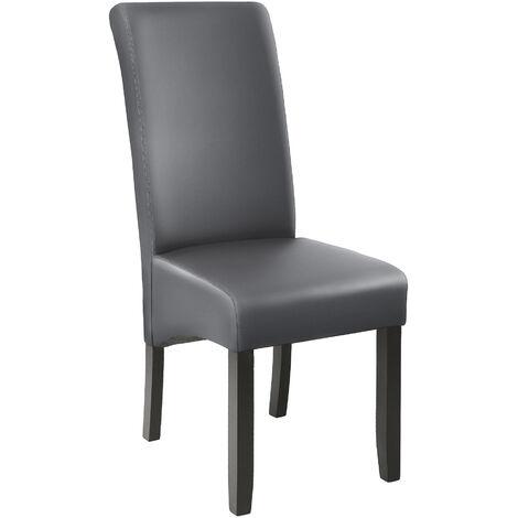Chaise aspect cuir
