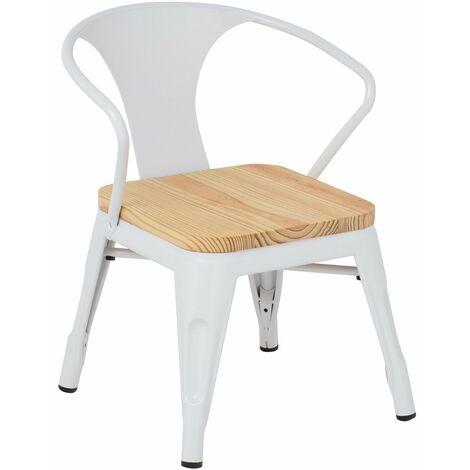 Chaise avec accoudoirs LIX Bois [KIDS!] ENFANTS - Blanc