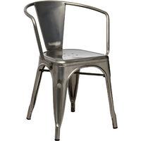 Chaise avec accoudoirs LIX Brossée Acier