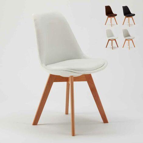 Chaise Avec Coussin Design Scandinave NORDIQUE PLUS Salle A Manger Et Bar