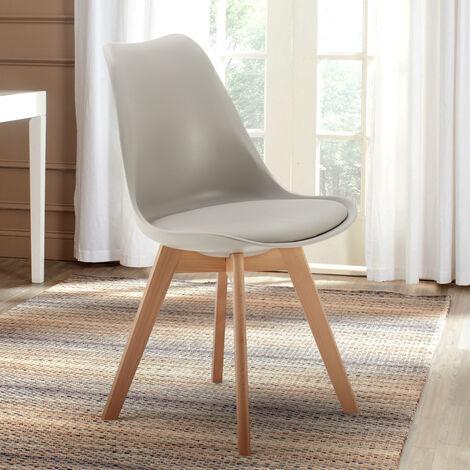 Chaise scandinave jaune à prix mini