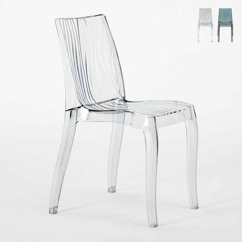 chaise salle à manger bar en polycarbonate transparent