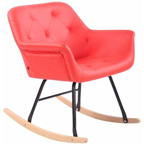 Chaise bascule Cabot similicuir