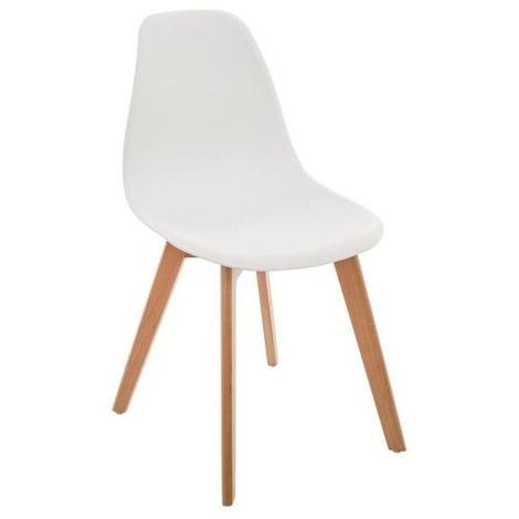 Chaise blanche scandinave pour enfant - Blanc