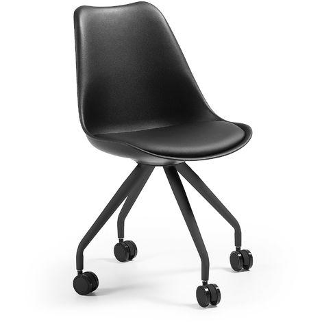 Chaise bureau Ralf noir