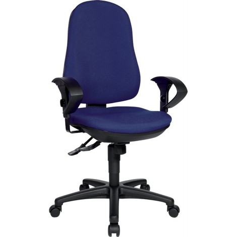 Chaise bureau tournante Support Synchro royalbleu