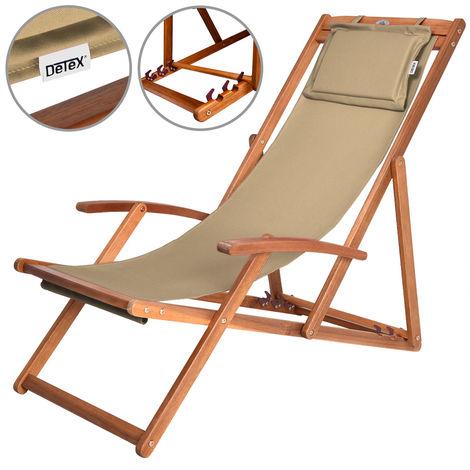 Chaise camping plage pliante bois Beige chaise pliable
