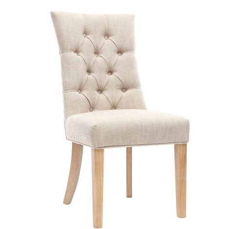 Chaise classique tissu pied bois VOLTAIRE