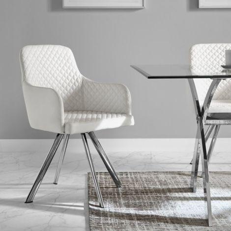 "main image of ""Chaise confortable ZENDART SELECTION - Blanc - Cuisine - Blanc"""