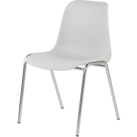 Chaise coque en plastique - sans rembourrage - coque beige / lot de 4