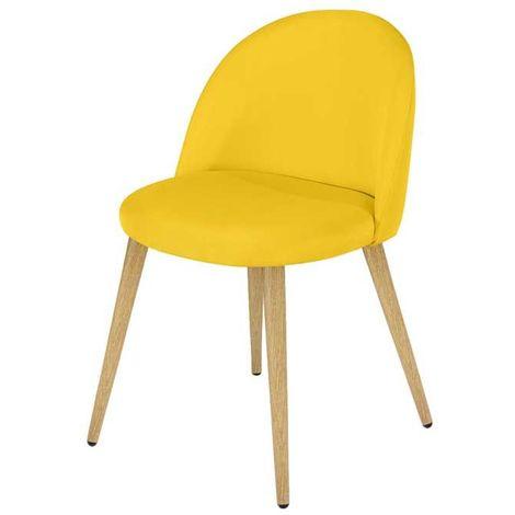 Chaise Cozy jaune