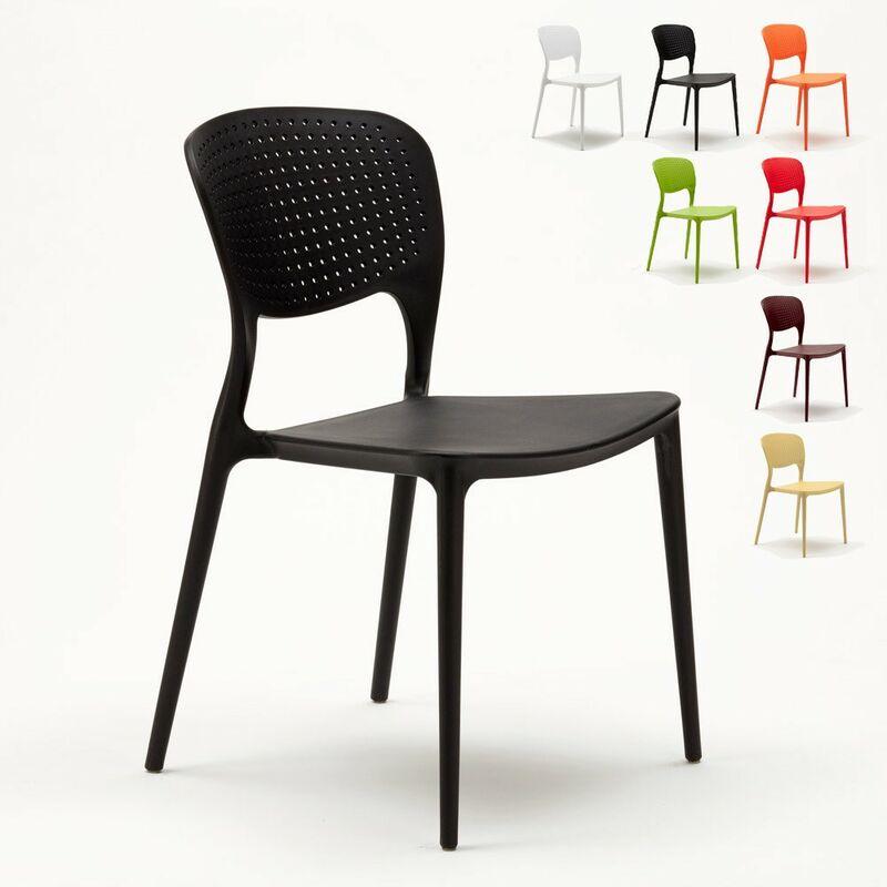 économiser 8d19d 34998 Chaise cuisine bar café polypropylene emplilable interiors exteriors GARDEN  GIULIETTA