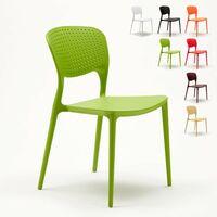 Chaise cuisine bar café polypropylene emplilable interiors exteriors GARDEN GIULIETTA