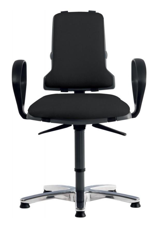 Bimos - Chaise de travail en mousse 160 Sintec H.450–640 mm avec patins et roulettes