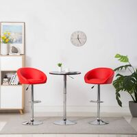 Chaise de bar 2 pcs Similicuir Rouge