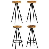 Chaise de bar 4 pcs Bois massif de manguier 30 x 30 x 76 cm
