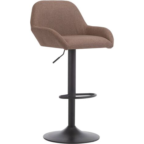 Chaise de bar avec accoudoir Taupe Tissu