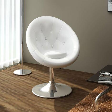 Chaise de bar Blanc Similicuir
