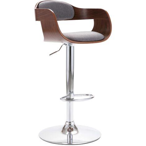 Chaise de bar Contreplaqué et tissu gris
