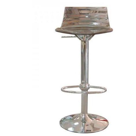 Chaise de bar design L'EAU en polycarbonate transparent