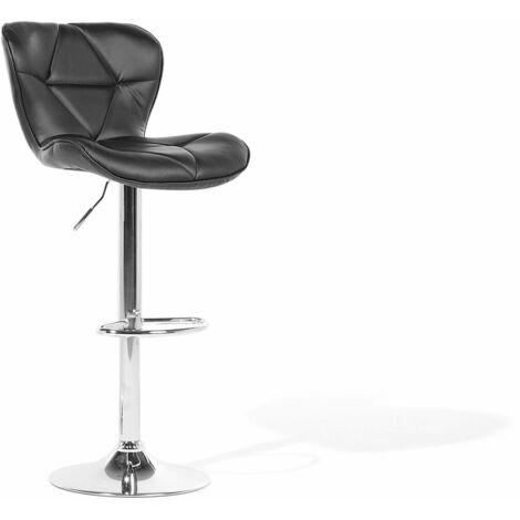 Chaise de bar en métal noir VALETTA