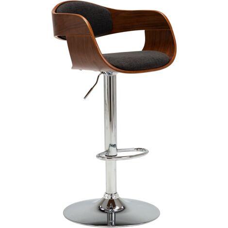 Chaise de bar Gris Bois courbé et tissu