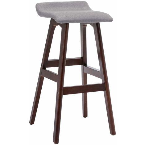 Chaise de bar Gris clair Tissu