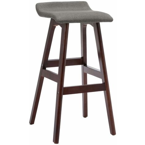 Chaise de bar Gris foncé Tissu