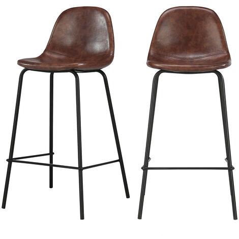 chaise de bar henrik marron lot de 2. Black Bedroom Furniture Sets. Home Design Ideas