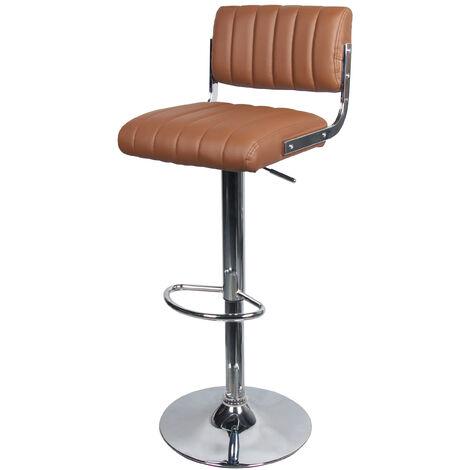 Chaise de bar Houston marron 65/87 cm