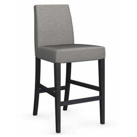 Chaise de bar LATINA piétement graphite assise tissu corde