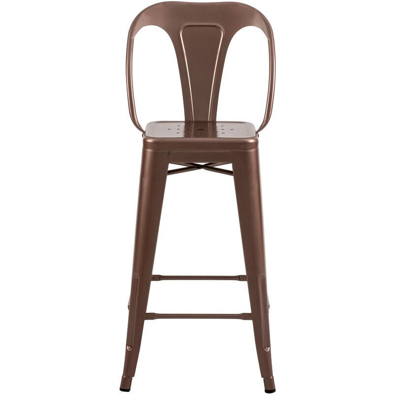 Chaise de bar mi hauteur Indus cuivre 66 cm (lot de 2) Cuivre