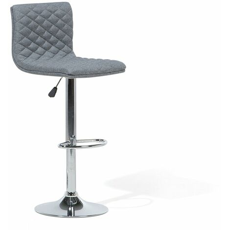 Chaise de bar moderne avec assise en tissu gris