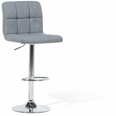 Chaise de bar moderne en tissu gris