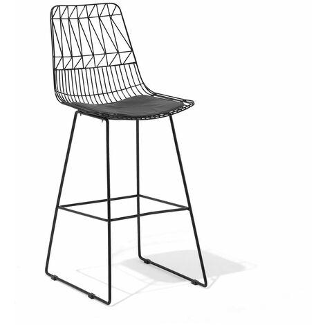 Chaise de bar noire PRESTON