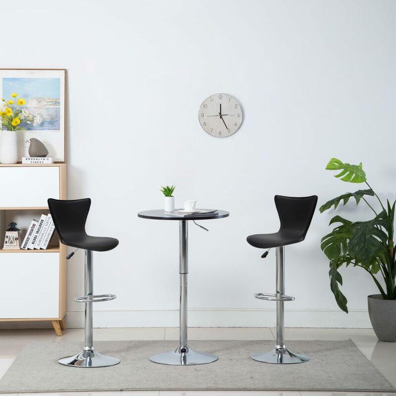 Chaise De Bar Pivotante 2 Pcs Similicuir 40 X 47 105 Cm Noir