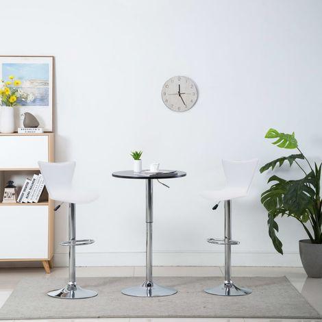 Chaise de bar pivotante 2 pcs Similicuir 40x47x105 cm Blanc