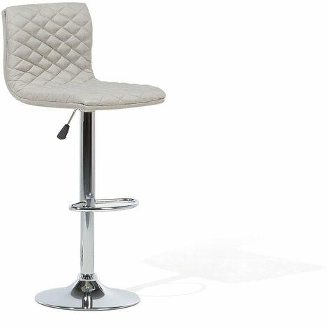 Chaise de bar réglable en tissu beige ORLANDO