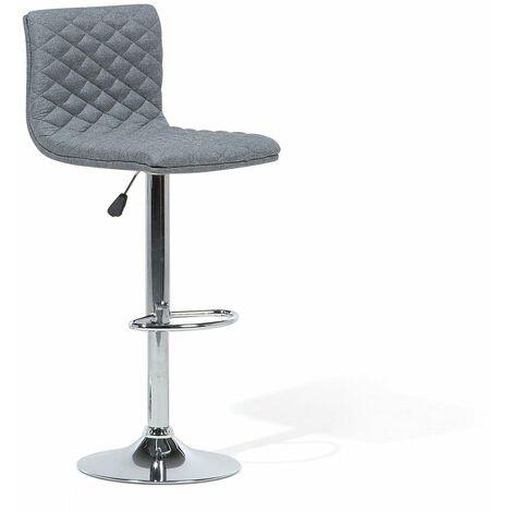 Chaise de bar réglable en tissu grise ORLANDO