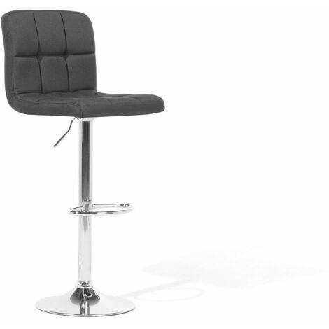 Chaise de bar réglable noire MARION