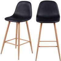 Chaise de bar Rodrik noire (lot de 2)