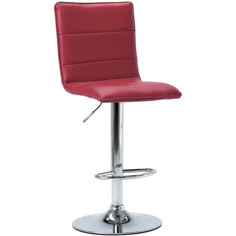 Chaise de bar Rouge bordeaux Similicuir