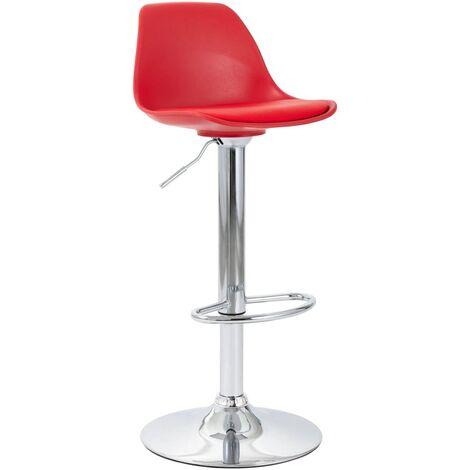 Chaise de bar Rouge Similicuir