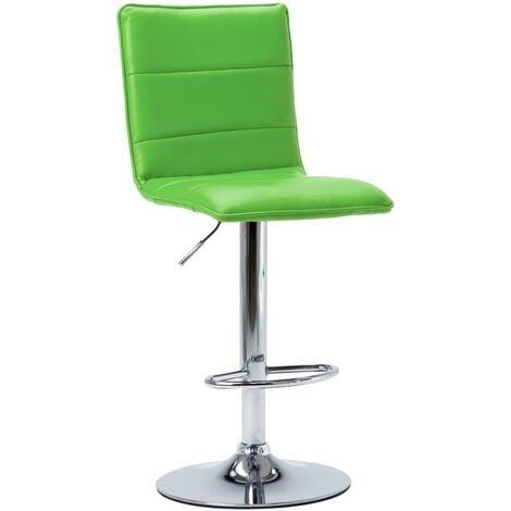 Chaise de bar Vert Similicuir