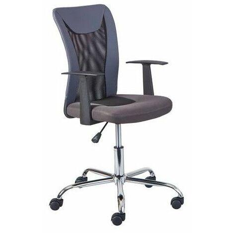 Chaise de bureau à roulettes Donny - l 48 x P 55 x H 89-99 cm - Gris - Livraison gratuite